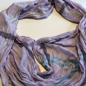 Juicy Couture Purple Blue Neon Yel Infinity Scarf